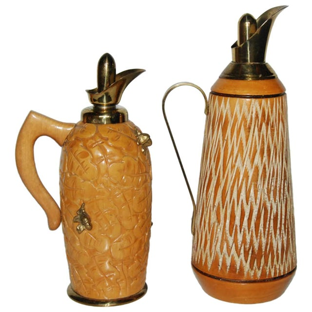Aldo Tura Wood & Brass Decanters - A Pair - Image 11 of 11