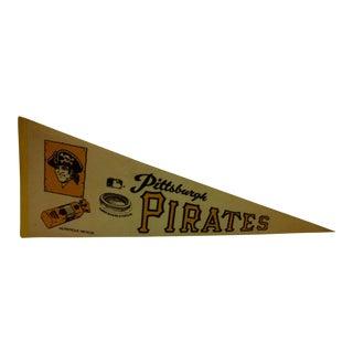 "Vintage MLB Pittsburgh Pirates ""Three Rivers Stadium"" Team Pennant - Circa 1971"