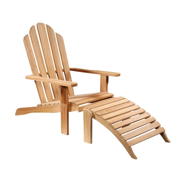 teak wood outdoor lounge chair chairish. Black Bedroom Furniture Sets. Home Design Ideas