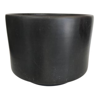 Gainey Matte Black Ceramic Planter