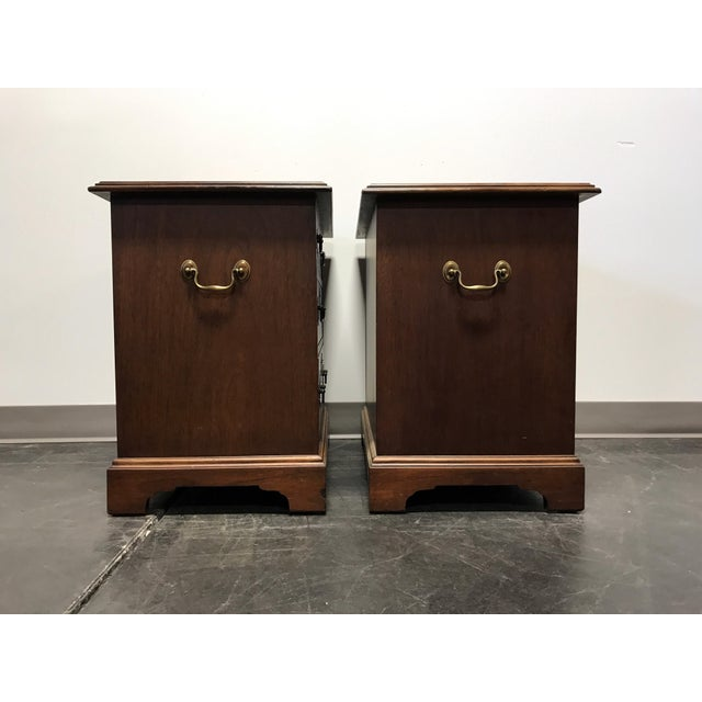 Mahogany Chippendale Bedside / Chairside Chests - Pair - Image 6 of 11