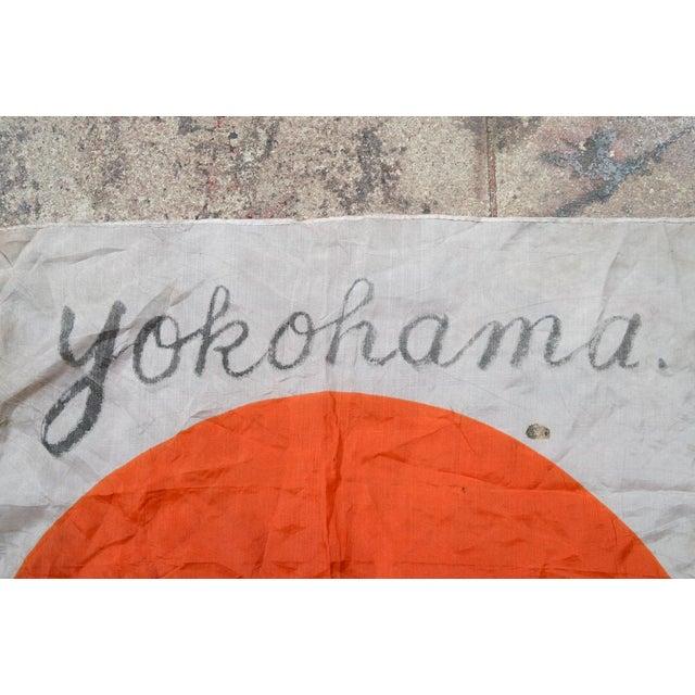 Captured Yokohama 1946 Japanese Rising Sun Flag - Image 6 of 10