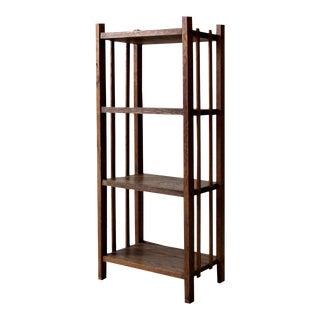 Mid-Century Wood Etagere Bookcase
