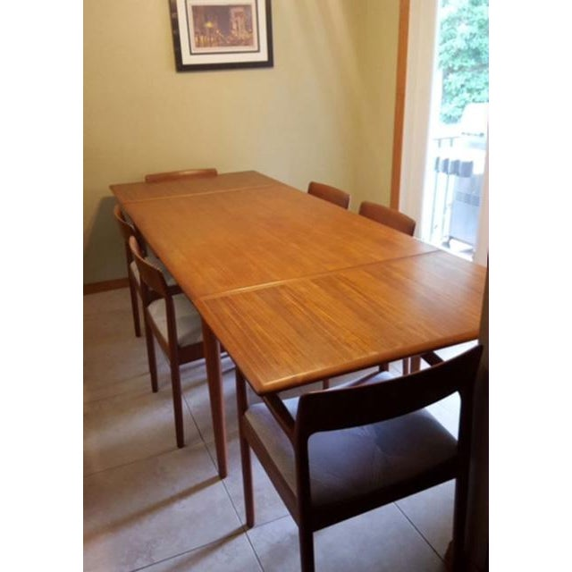Teak Dining Room Table & Chairs - Set of 7 - Image 2 of 7