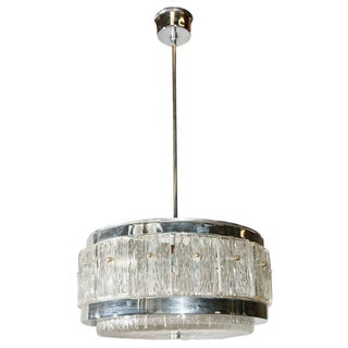 Chrome and Glass Chandelier