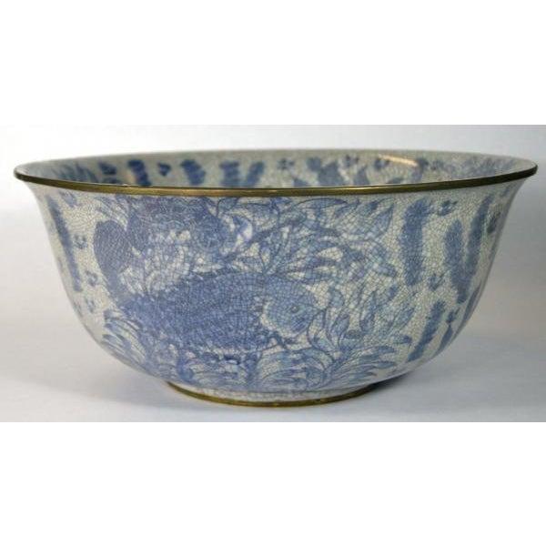 Image of Blue and White Porcelain Wash Basin