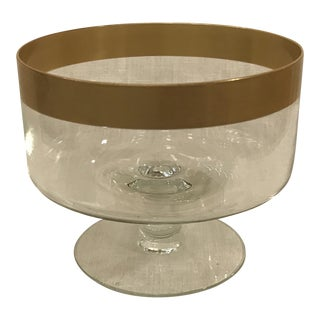 Vintage Dorothy Thorpe Style Gold Rim Compote