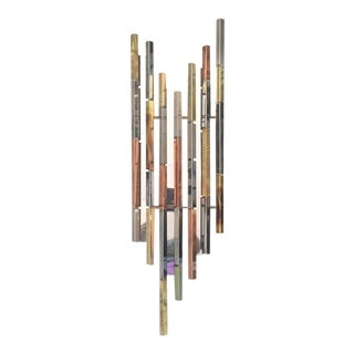 R H Berger Multi Metal Butalist Skyscraper Sculptural Wall Art