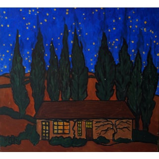 """Night Time in the Hills"" Original Acrylic Painting"
