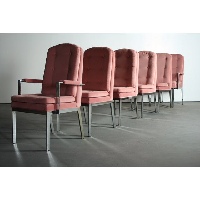 Milo Baughman for DIA Blush Dining Chairs - S/6 - Image 5 of 12