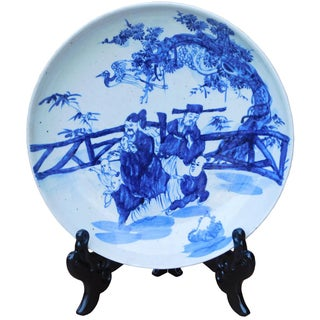 Chinese Blue & White Porcelain Charger Plate