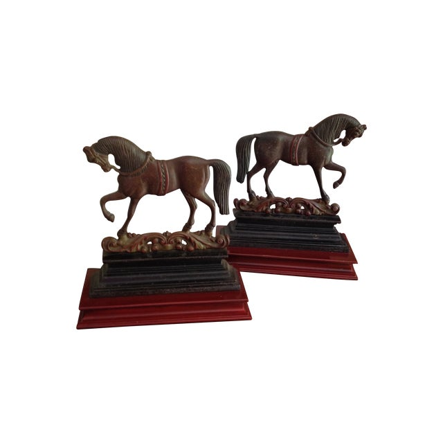 Antique Cast Iron Horse Molds - a Pair - Image 1 of 7