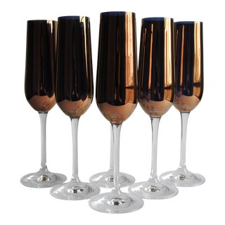 Vintage Champagne Flutes - Set of 6