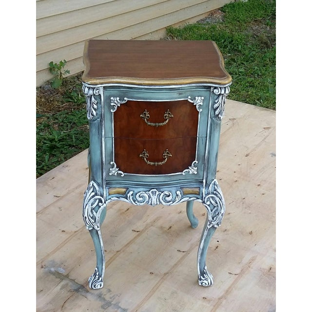 Image of Hand-Painted French Nightstand