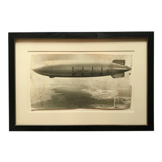 1931 Framed Vintage Navy Airship Akron Photo