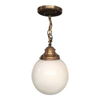 Vintage Lavery & Co. Brass Pendant Globe Lamp