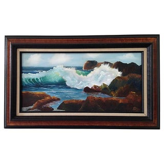 Crashing Waves Seascape Oil Painting