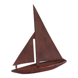 Nautical Sculpture Metal Sail Boat