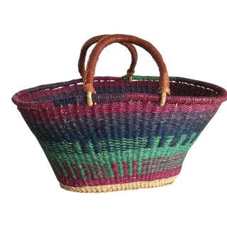 Boho Tribal Moroccan Market Basket