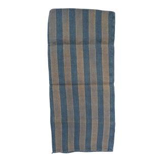 French Blue & Gray Grain Sack