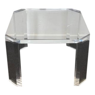 "Acrylic ""L'Ami"" Side Tables by Charles Hollis Jones - A Pair"