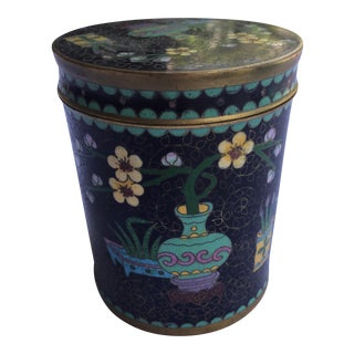 Chinoiserie Cloisonné Lidded Box