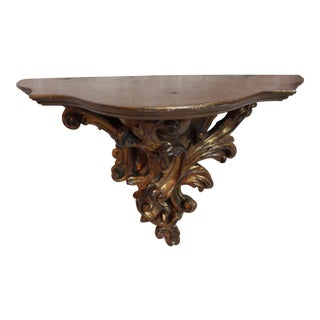 Vintage Italian Gilt-Wood Bracket