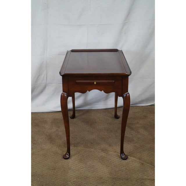 Statton Old Towne Solid Cherry Queen Anne Table - Image 2 of 10