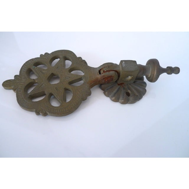 Antique Moroccan Brass Door Knocker - Image 4 of 7