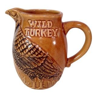 Mid-Century Modern Wild Turkey Graphic Pitcher