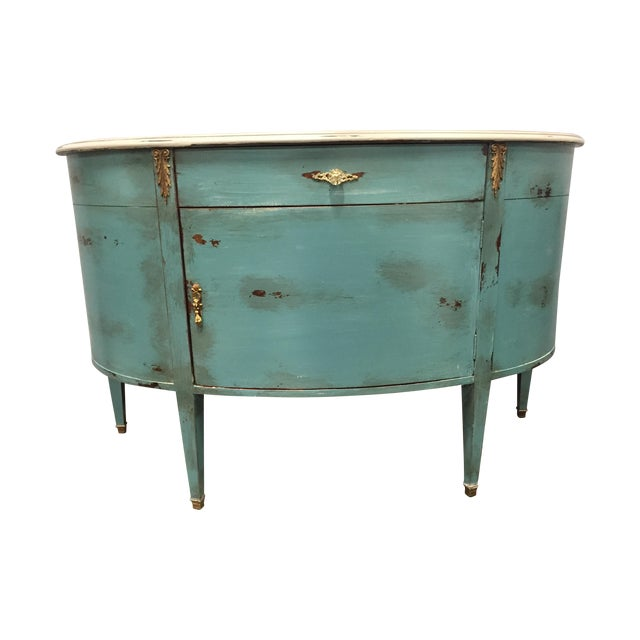 Image of Credenza with Curved Front and 1 Drawer