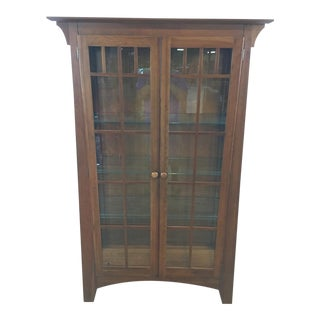 Ethan Allen Wood Two-Door Display Cabinet