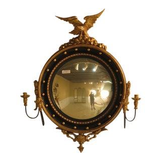 M. Greve Vintage Bulls Eye Federal Eagle Motif Mirror