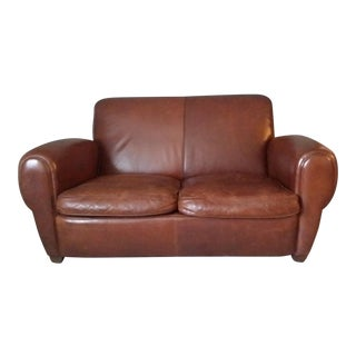 "Restoration Hardware ""Parisian"" Leather Sofa"