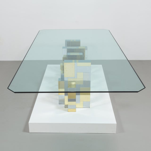 A Paul Evans Cityscape Pedestal Dining Table Base 1970s - Image 8 of 10