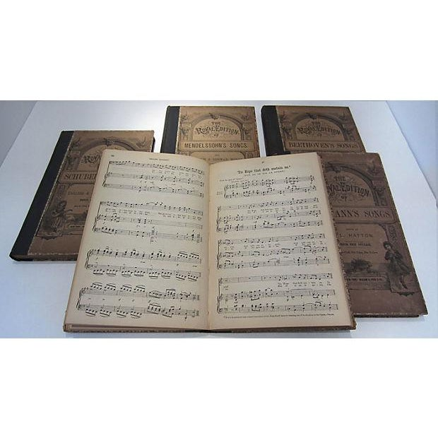 Image of Antique Traditional Song Books - Set of 5