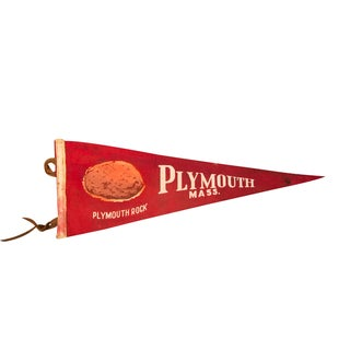 Plymouth Rock, Massachusetts Felt Flag