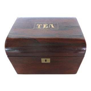 Inlaid Rosewood Tea Caddy, C.1830