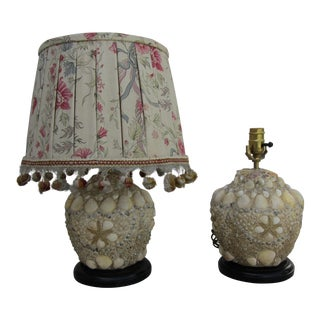 1930's Sea Shell Vintage French Lamps - A Pair