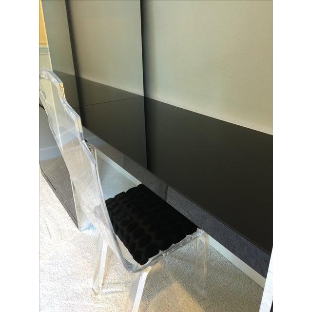 Ello Black Glass Curio Cabinet Desk - Image 5 of 11