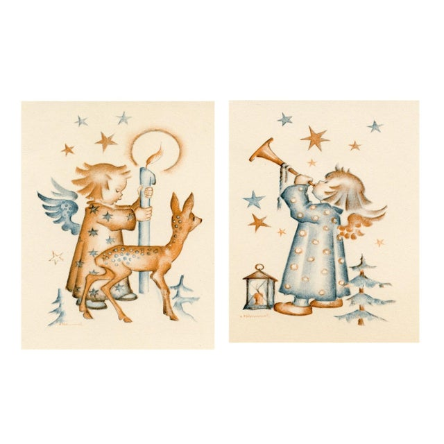 Hummel Christmas Prints - Pair - Image 1 of 5