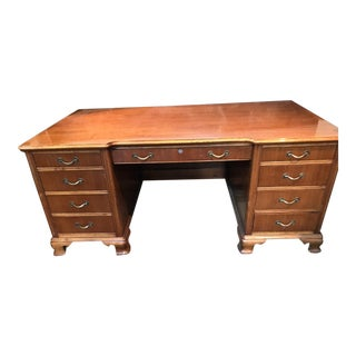 Vintage Empire Oak Captains Desk