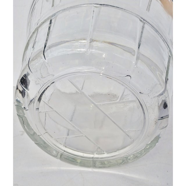 Image of Vintage Glass Bucket W Handle, Wine Cooler