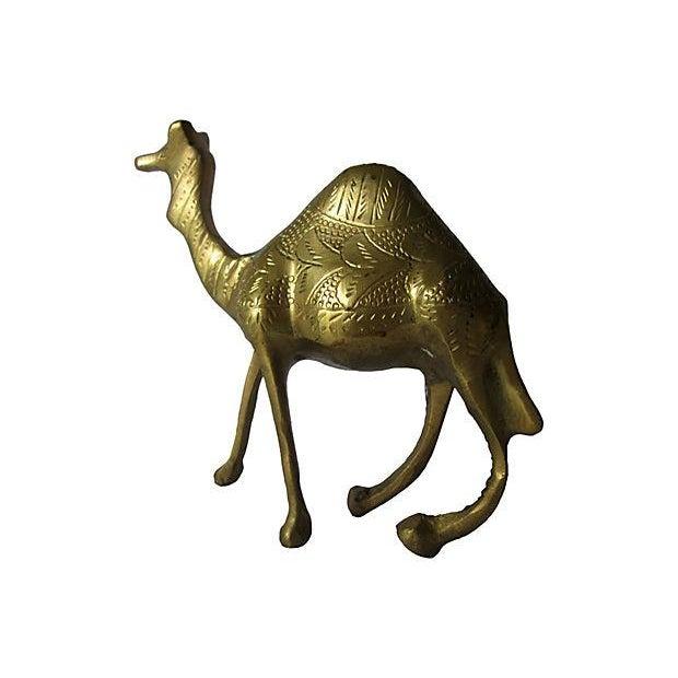 Image of Vintage Etched Solid Brass Camel