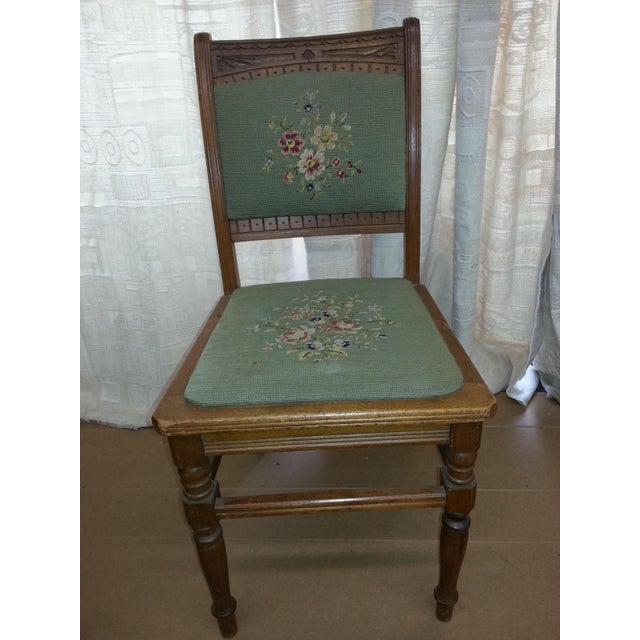 Needlepoint Prairie Dining Chairs - Set of 3 - Image 4 of 8