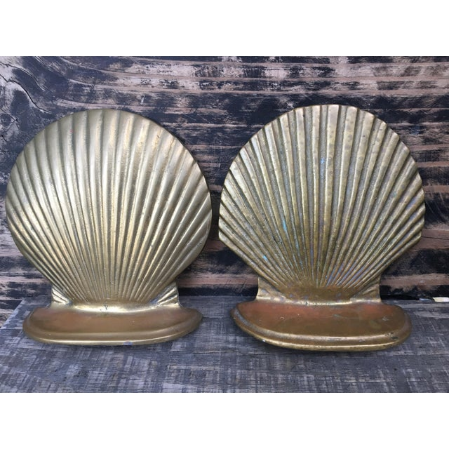 Vintage Brass Shell Bookends - A Pair - Image 2 of 7