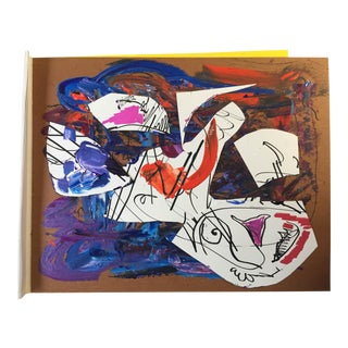 L'Homme Paper Board Collage/Painting Modern Abstract by Erik Sulander