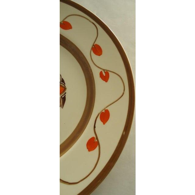 Art Deco Hand Painted Orange Tulip Plate - Image 4 of 6