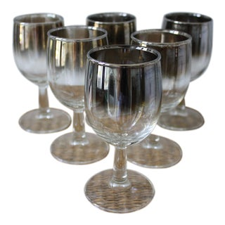 Silver Ombre Wine Glasses - Set of 6