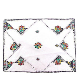 Fez Tray Needlepoint Linen and Napkins - Set of 7